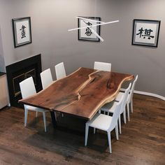 #tbt to the recent dining table we made from a set of incredible walnut slabs. Here's a quick shot from its new home where it's settled in and looking great!
