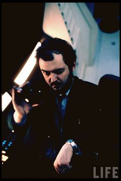 """Stanley Kubrick on set of motion picture """"2001: A Space Odyssey."""""""