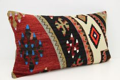 Turkish Lumbar Kilim pillow cover 14x24 inches by stripepattern