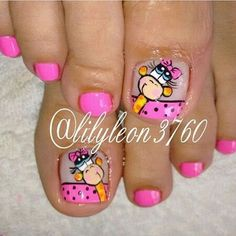 Consulta esta foto de Instagram de @leidy_espinosa_torrado • 46 Me gusta Pedicure Nail Art, Mani Pedi, Manicure, Pretty Toes, Pretty Nails, Luv Nails, Cute Pedicures, Magic Nails, Fall Nail Colors