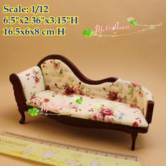 $14.90 1:12 Dollhouse Miniatures Chaise Lounge /Doll house Living Room Furniture Accessory