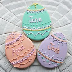 Personalized Easter Egg Cookies | Flickr - Photo Sharing!