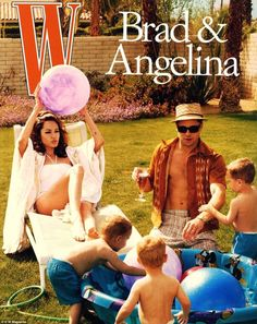 'Domestic Bliss':Brad and Angelina took part in a 2005 photo shoot for W magazine whichdepicted them as a couple with children, and Jennifer was allegedly 'heartbroken' after seeing the images