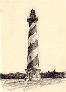 Scott's Creativity for Sanity: Cape Hatteras Lighthouse - tiny sketch