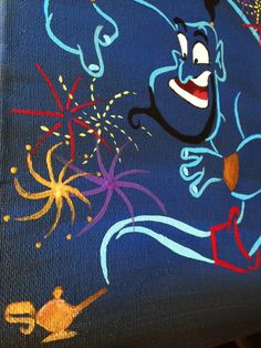Aladdin's GENIE Original 8x10 painting by TwistedFantasea on Etsy, $40.00
