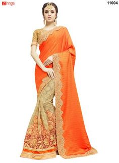 Women's Beautiful Silk and Net Saree With Blouse  #Sarees #Saris #Fashion #Looking #Popular #Offers #Design #Trending #Zinngafashion  #Designer #Offers