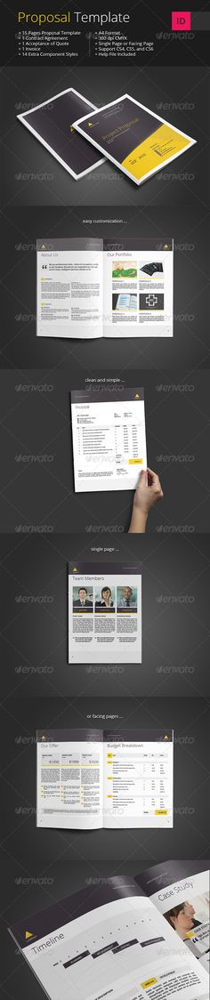Proposal Template u2014 Photoshop PSD #company proposal #corporate - company proposal template