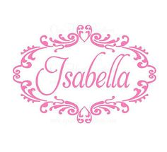 Name Wall Decals  Shabby Chic Vinyl Wall by openheartcreations, $42.00