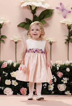 Brides: Joan Calabrese. Style 114357b, sleeveless tafetta flower girl dress, $110, Joan Calabrese for Mon Cheri