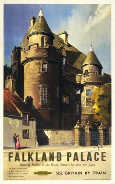 Edinburgh 6 Capital City Of Scotland Railway Old Advert Vintage Poster Picture