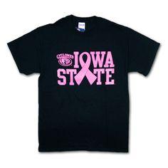 Pink Ribbon Iowa State T-Shirt