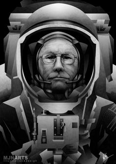 Neil Armstrong – Tribute Poster by Mitchell Nelson