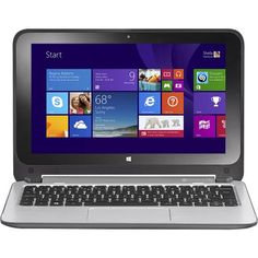 """HP - Pavilion x360 2-in-1 11.6"""" Touch-Screen Laptop - Intel Pentium - 4GB Memory - 500GB Hard Drive - Smoke Silver - Front Zoom"""