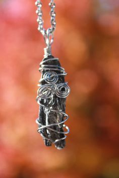 Black Kyanite stainless steel wire wrapped by CrystalAffinity