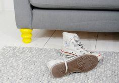 Ikea sofa tuned with Prettypegs Astrid leg.