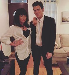 Pin for Later: 36 Couples Costume Ideas That Are Ridiculously Cheap Mia and Vincent from Pulp Fiction