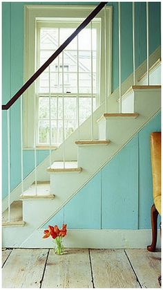 gorgeous turquoise stairs