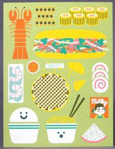 """""""Itadakimasu"""" – A Playful Mini Art Print Set by Burlesque Design"""