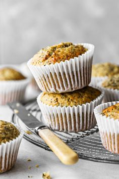 An easy recipe for moist, light and fluffy Lemon Poppy Seed Muffins. A little sweet, a little tangy - these one bowl muffins are delicious! Muffin Recipes, Cupcake Recipes, Cupcake Cakes, Baking Recipes, Whole Food Recipes, Lemon Poppyseed Muffins, Little Lunch, Lunch Box Recipes, Blue Berry Muffins