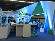Otra vista del stand Movistar,