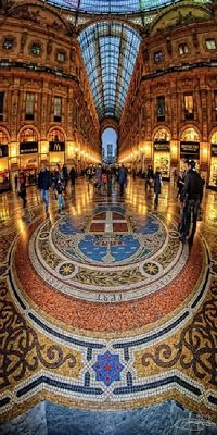 "Galleria Vittorio Emanuelle  ""Shopping Mall"" Milan, Italy Lombardy"