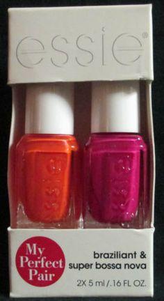 Essie Nail Polish My Perfect Pair Braziliant & Super Bossa Nova Manicure