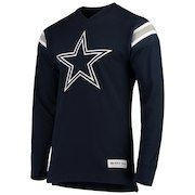 49911fadd Men s Dallas Cowboys Mitchell   Ness Navy Team Captain V-Neck Long Sleeve T- Shirt
