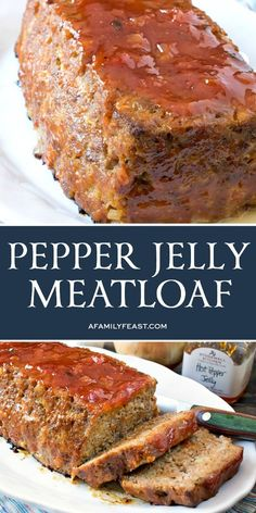 Hot pepper jelly gives this easy meatloaf a delicious punch of flavor. Try our Pepper Jelly Meatloaf tonight! Hot pepper jelly gives this easy meatloaf a delicious punch of flavor. Try our Pepper Jelly Meatloaf tonight! Easy Meatloaf, Meatloaf Recipes, Meat Recipes, Cooking Recipes, Recipies, Hot Pepper Jelly, Keto, Stuffed Sweet Peppers, Beef Dishes