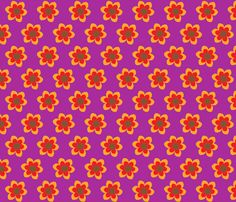 retroflower purple fabric by mofje on Spoonflower - custom fabric Purple Fabric, Custom Fabric, Flower Designs, Spoonflower, Digital Scrapbooking, Gift Wrapping, Wallpaper, Prints, Pattern