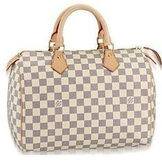 LV Damier Azur Speedy 30. My go to summer bag, goes with everything.
