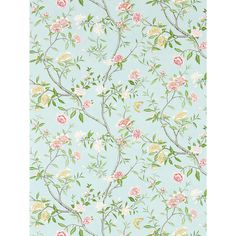 Zoffany Nostell Priory Wallpaper, Sky / Pink, ZW00311421 Online at johnlewis.com