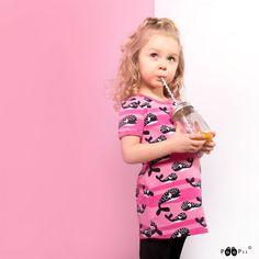 PaaPii Design VIOLA tunic, Whales Whales, Yellow Black, Tunic, Pink, Design, Tunics, Whale, Pink Hair