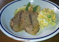 Friptura de vitel (Arrosto) cu piure si salata Yummy Food, Tasty, Steak, Salads, Delicious Food, Steaks