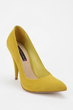 Steven by Steve Madden Alenah Nubuck Pump  #UrbanOutfitters    Reminds me of some sort of sour candy, yum!