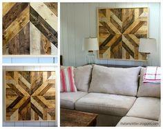 DIY wood quilt - wall art.