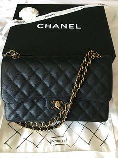 458923e13937 My second Chanel Chanel classic flap Jumbo in caviar with Gold Hardware   Chanelhandbags Chanel Jumbo