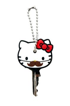 Loungefly - Hello Kitty Mustache Key Cap @Candace Kennedy: Look even Hello Kitty is into the bro' stash. xD