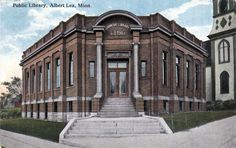 Recent and historical photos of the Albert Lea area. Albert Lea Minnesota, Great Places, Places To Visit, Carnegie Library, Historical Photos, Memories, Spaces, Mansions, Signs