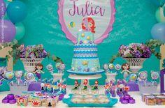 bolo e doces - festa sereia