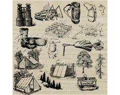 vintage camper clip art   Digital Download Vintage, Royalty Free Stock Photo, Vintage Camping ...