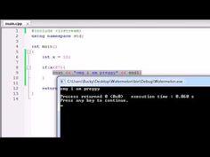 Buckys C++ Programming Tutorials - 16 - if Statement.....again?