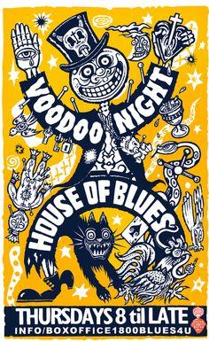 Alan Aldridge - Poster for House of Blues