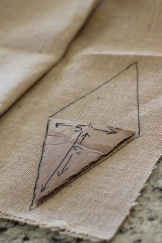 Make this easy No Sew Pennant Banner for just $7 - so simple!