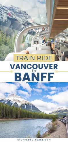 Vancouver to Banff train ride aboard the Rocky Mountaineer is a bucket list must Canadian Rockies train trip plus add on stop in Vancouver British Columbia and Banff Alberta. #bucketlist #canadianrockies #travel