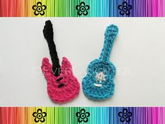 Crochet-Guitar Applique $4.95