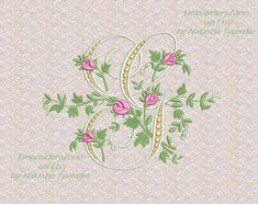 Monogram G from the beautiful alphabet. Font W от EmbroideryZone