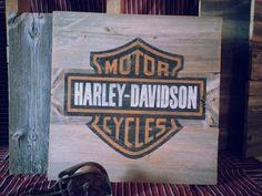 Harley Davidson Barnwood Sign Vintage And Rustic #HDNaughtyList
