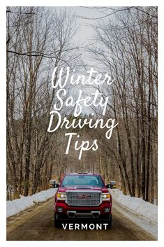 Winter Driving Safety Tip Winter Driving Tips, Safe Driving Tips, Driving Safety, Vermont Winter, New England Travel, New Drivers, Road Trip Usa, Safety Tips, Winter Travel