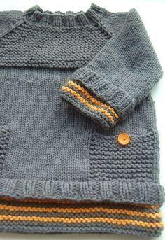 Pull Peekaboo pour bébé et enfant du 3 mois au 8 ans - explications de tricot - Modèles de tricot chez Makerist