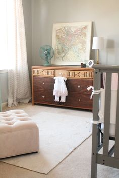 Project Nursery - Soft Gray Nursery with Vintage Decor - Project Nursery